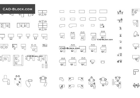 office desk elevation cad block office furniture cad blocks
