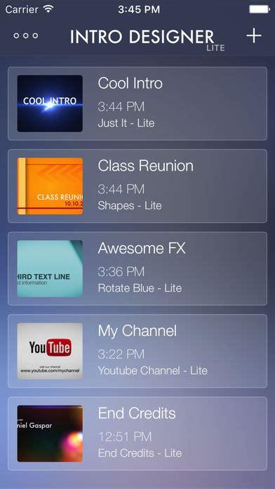 intro designer lite intro designer lite create intros for imovie on the app