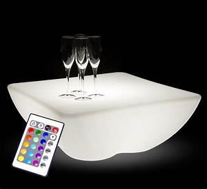 Table Ronde Exterieure : table basse lumineuse led 60 x 60 cm carr e ext rieure sans fil 109 ~ Teatrodelosmanantiales.com Idées de Décoration