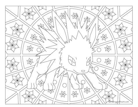 Jolteon Kleurplaat by 135 Jolteon Coloring Page 183 Windingpathsart