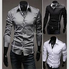 Buy 2017 Mens Fashion Luxury Stylish Casual Designer Dress