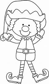 Elf Coloring Pages Printable Shelf sketch template
