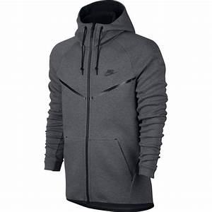 Veste Nike Sportswear Tech Fleece Windrunner gris ...