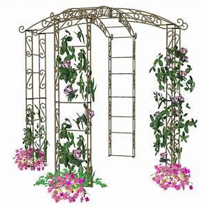 Arche De Jardin En Fer Forgé : kiosque de jardin tonnelle 4 pieds arches kiosque et ~ Premium-room.com Idées de Décoration