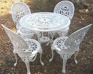 Salon De Jardin Romantique : salon de jardin rocaille blanc immitation fonte no fer ~ Dailycaller-alerts.com Idées de Décoration