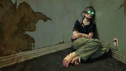 Dystopian Cyberpunk Reality Virtual Sad