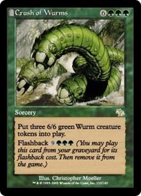 mtg wurm deck legacy crush of wurms judgment gatherer magic the gathering