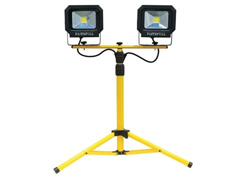 faithfull fppslled40tl led sitelight tripod 2800