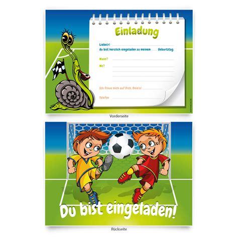 fussball kindergeburtstag einladungskarten