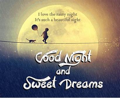 Rainy Night Dreams Sweet Goodnight Quotes Cards