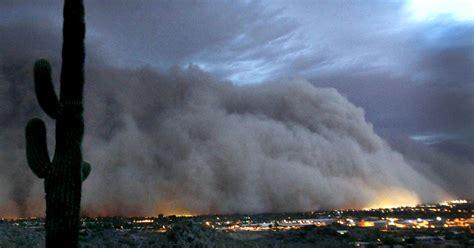 phoenix coated  dust  massive storm cbs news