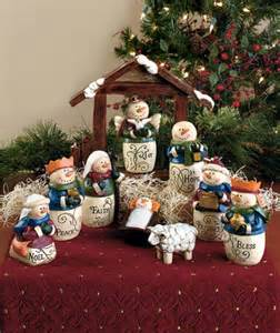 home interior nativity set 10 inspirational snowman nativity set mantel home decor ebay