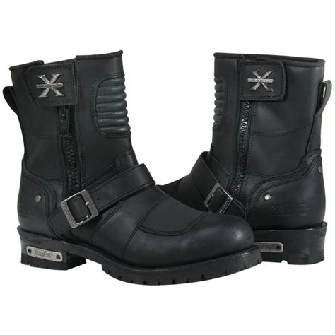 mens buckle biker boots xelement mens zip buckle motorcycle boots 11 ebay