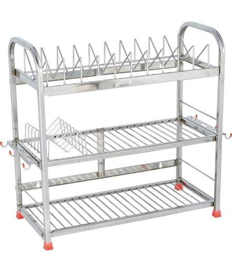 stainless steel kitchen storage rack buy amol silver stainless steel kitchen rack at low 8281
