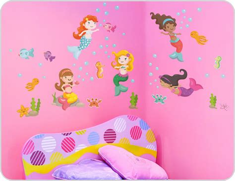 Mermaid Wall Stickers-modern-kids Wall Decor-sydney