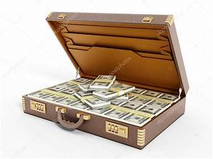 Open vintage briefcase full of money — Stock Photo ...