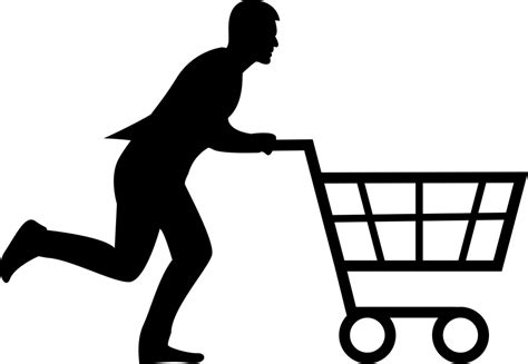 Shopping Cart Man · Free vector graphic on Pixabay