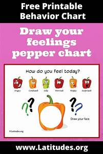 FREE Feelings Chart - Draw How You Feel Today (Cute ...