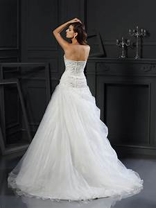 ball gown sweetheart ruffles sleeveless long organza With hebeos wedding dresses