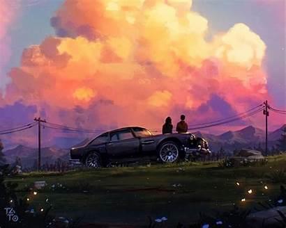 Romance Sunset Standard Wallpaperscraft