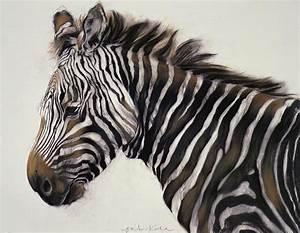 Zebra Painting by Odile Kidd