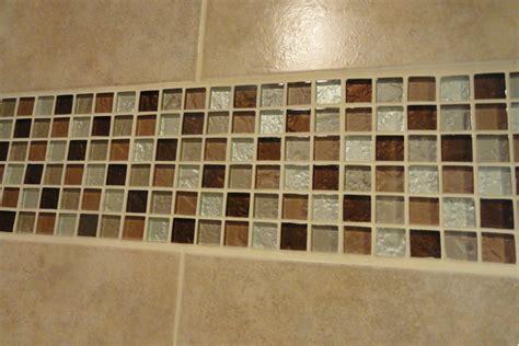 nice ideas  glass tiles  bathroom