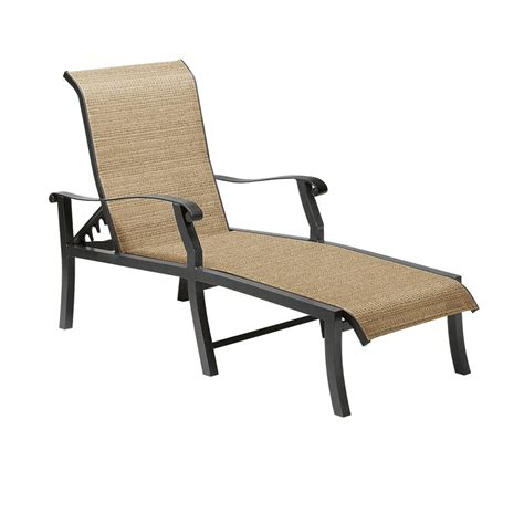 woodard cortland sling adjustable chaise lounge 42h470