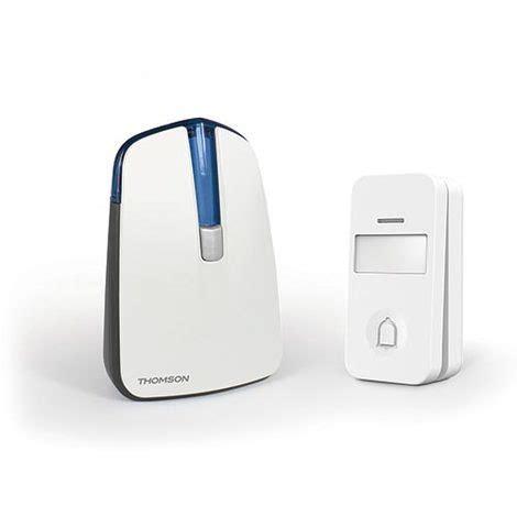 sonnette sans fil sans pile thomson sonnette sans fil 150m avec bouton sans fil sans pile bleu 2298