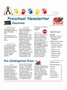 preschool newsletter template 4 free templates in pdf With newsletter outline template
