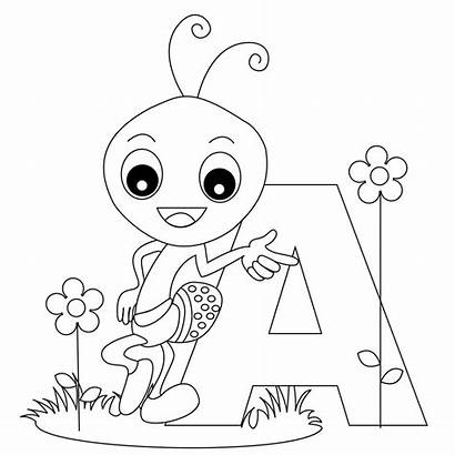Alphabet Coloring Pages Letter Printable Letters Colouring