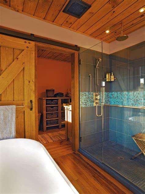barn door shower home design ideas pictures remodel
