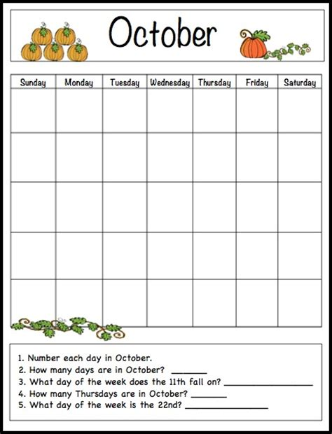 october learning calendar fun family crafts