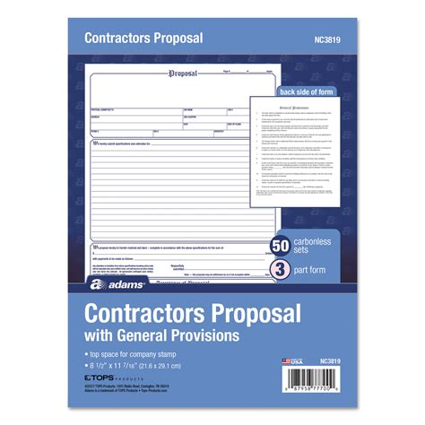 Contractor Form By 174 Abfnc3819 Ontimesupplies