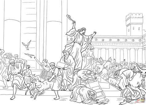 Jesus Teaching In The Temple Coloring Page Eskayalitim