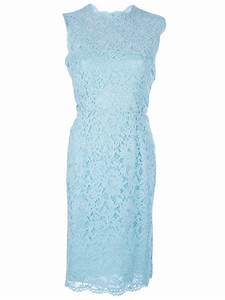 Valentino Lace Dress in Blue | Lyst