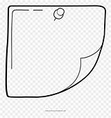 Pinclipart Sticky Note Clipart Coloring Transparent sketch template