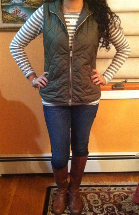 Quilted Vest And Riding Boots Cute Fall Outfit My Style