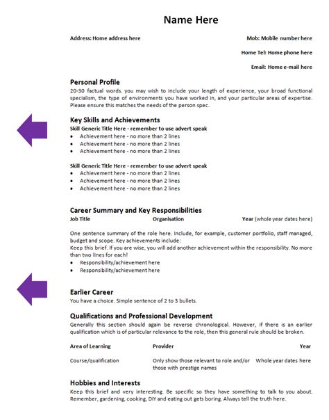 Tailor Resume Template by How To Tailor Your Cv To A Particular By Candidate Tips