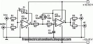 Free Schematic Diagram  Subwoofer Filter Circuit