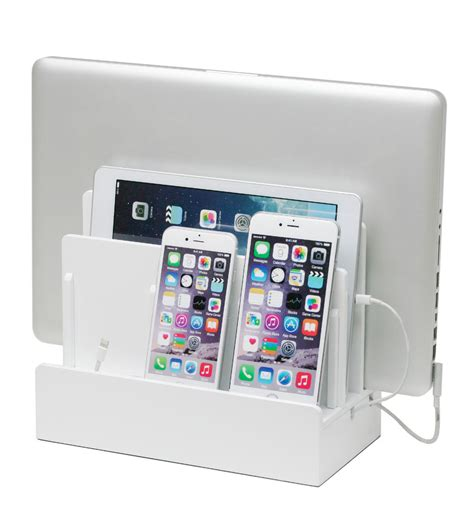 l with charging station great useful stuff high gloss multi device charging