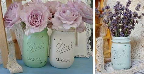 kitchen table shabby chic jar vases set of two