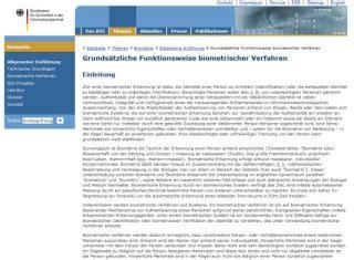 Bsi Kurzinformationen Biometrie by Zutrittskontrolle Mit Handvenenerkennung