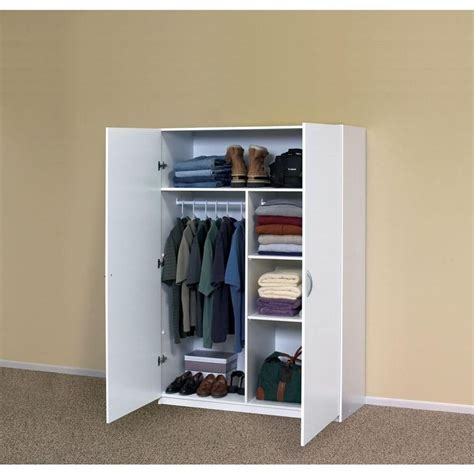 closetmaid storage cabinets home depot closetmaid 48 in multi purpose wardrobe cabinet 12336 at