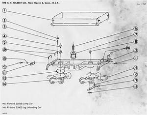 American Flyer Log Car 914  U0026 25003 Parts List  U0026 Diagram
