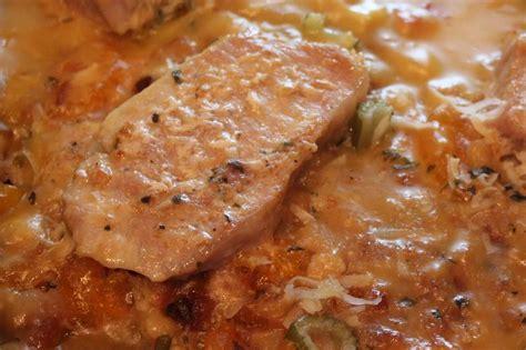 how to bake pork loin chops baked pork loin chops with mandarin orange stuffing what s cookin italian style cuisine