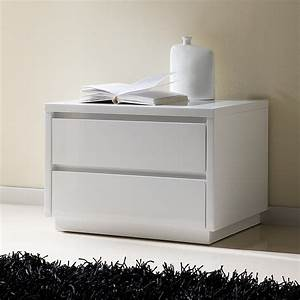Table De Chevet Design Laquee Blanche Tobia Zd1chv A D