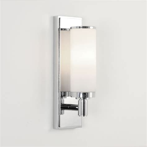 astro verona polished chrome bathroom wall light at uk