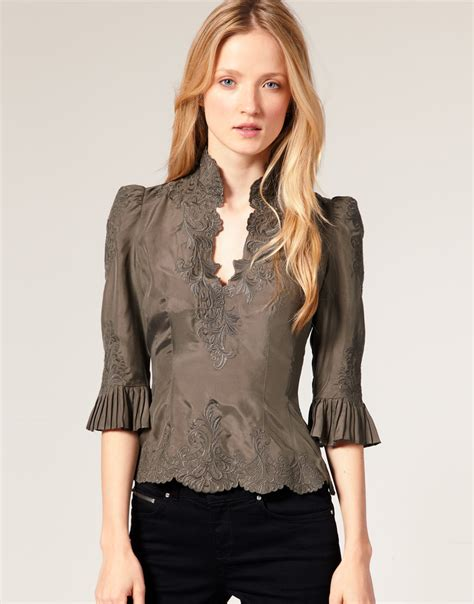 lace blouse fashion for millen lace embroidered silk blouse