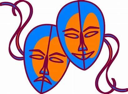 Mask Masks Theatre Clip Theater Clipart Cartoon