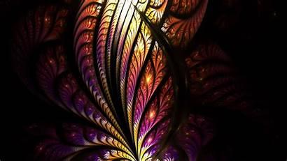 Fractal Tangled Pattern 4k Bright Glow Background